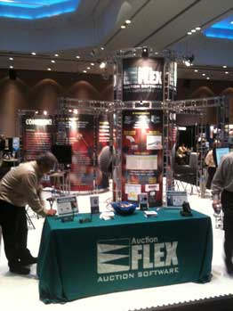 Auction Flex booth